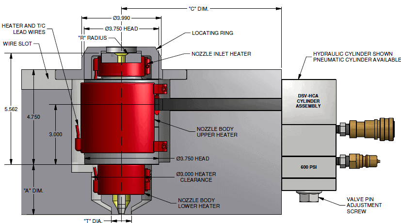 gate valve diagram injection molds